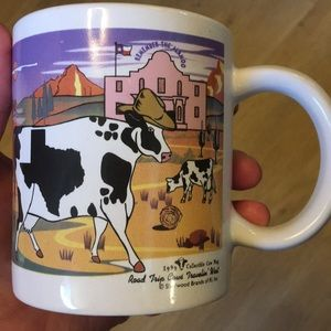 Road Trip Cows Traveling West Mug